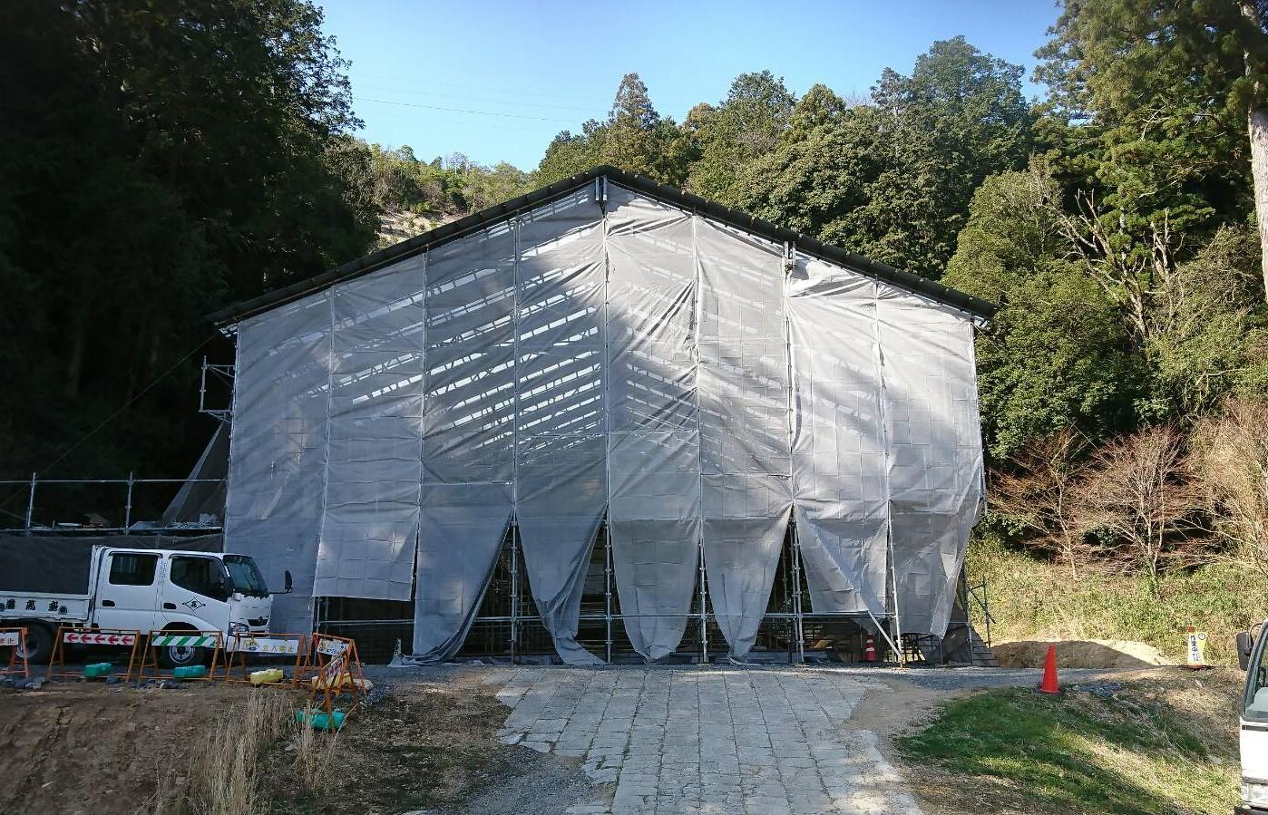 滋賀県粟東 五百井神社 社寺工事