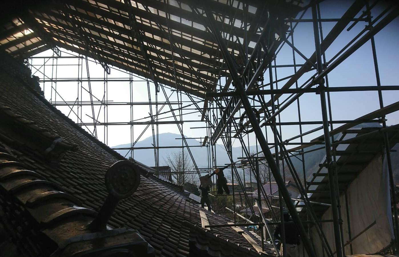 鳥取 興雲寺 工事